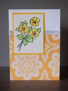 HandPainted Floral Card  Blank by IvoryLeaf on Etsy, $4.95