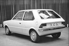 OG | 1974 Audi 50 Typ86 / NSU Project K50 for NSU Prinz replacement | Clay model (note the rear windscreen with 2 proposals)