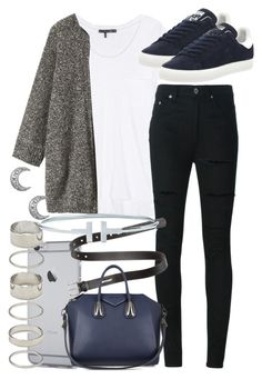 """""""Untitled #80"""" by voiceforfashion ❤ liked on Polyvore featuring rag & bone, adidas, Yves Saint Laurent, Acne Studios, Forever 21, Givenchy, Toast, women's clothing, women and female"""