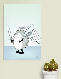Discover «Good Hedgehog», Numbered Edition Canvas Print by Mangulica - From $49 - Curioos