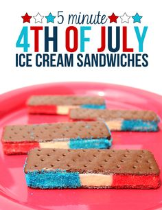Easy 4th of July Ice Cream Sandwiches - thecraftpatchblog.com