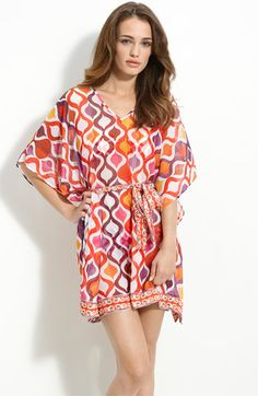 Trina Turk 'Ogee' Sheer Caftan Cover-Up available at Nordstrom