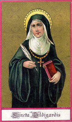 Saint Hildegard of Bingen, Doctor of the Church, pray for us.  Feast day September 17.