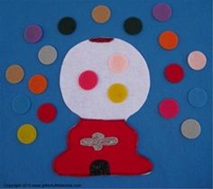 Counting with Gumballs Flannel Board Felt Board Story
