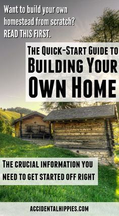 Want to build your own home on your land? Learn what you need to know about the financials FIRST. Get this free guide to plan for your home build. Home Building Tips, Building A House, Building Ideas, Building Design, Finance, Build Your Own House, Homestead Survival, Do It Yourself Home, The Ranch