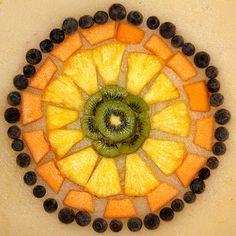 Fruit mandala by Heather Plett, via Flickr / Mandala di frutta