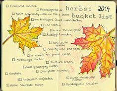 Meine Herbst Bucket List