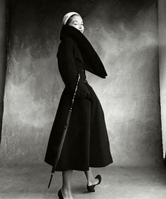 Lisa Fonssagrives in Christian Dior, photographed by Irving Penn for Vogue, 1950.