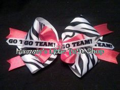 One of the many school spirit bows I have made.