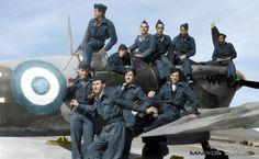 EBA - RHAF.  Supermarine  Spitfire. 336th Sq., R.H.A.F.  Dekelia  AFB  at  28  January 1948. Greece by Markos Danezis