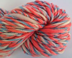 Big and lacy Super bulky  hand spun 3 ply yarn by misterstiltskin, $26.00