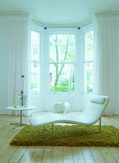 Curtain pole bent for bay window in white with contrasting purple midials. Soft Furnishings, Pink Bedroom Design, Home, Made To Measure Blinds, Bedroom Design, Curtains, Bay Window, Curtain Poles, Furnishings