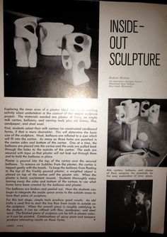 Cast Plaster sculpture with Henry Moore- like negative spaces