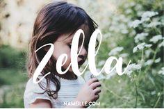 Zella I Boho & Earthy Names for Girls I Baby Names I Namielle.com