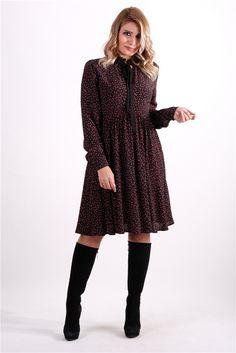 Desenli Bağcık Detaylı ElbiseKumaş Cinsi  :%100 Viskon Modelin Ölçüleri : 1.68cm / 36 BedenModelin Üstündeki Beden : Small                                                                                                                                                                                                        Yıkama Talimatı:Ürünün iç etiket bölümünde gerekli yıkama talimatı yer almaktadır. The Dress, Sweaters, Dresses, Fashion, Vestidos, Moda, La Mode, Sweater
