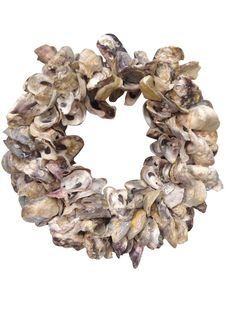 Pair of Oyster Shell Wreaths Seashell Wreath, Dining Table With Bench, Entry Bench, Central California, Custom Cushions, Zip Code, Mid Century Style, Modern Chairs, Burlap Wreath