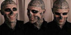 I find Zombie Boy to be so attractive... WITH  or without the tattoos ;)