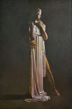 PIGMALIONE DI ANGELO VADALA' olio su tela-cm 100 x150