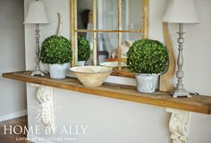DIY Entryway Table using corbels/architectural salvage | Home by Ally