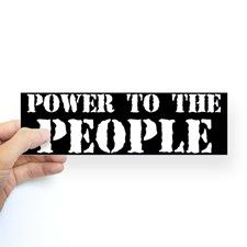 Power to the People Sticker (Bumper) for