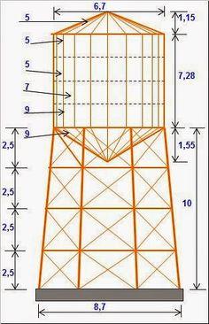 Diseño de Tanque elevado metálico http://ht.ly/CiSKA   #Isoluciones #PlanillasExcel #Estructuras