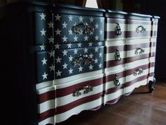 Hey, I found this really awesome Etsy listing at http://www.etsy.com/listing/162433768/the-waving-american-flag-dresser