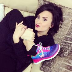 ddlovato's photo on Instagram - ddlovato    Just saw my @skechers commercial on TV for the first time!! Check it out here: spr.ly/6008Qyr0  #skechersdemistyle