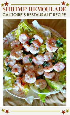 A Remoulade Sauce Recipe for shrimp salad. Remoulade Blanc, is a recipe from New Orlean's famous Galatoire's Restaurant. A mayonnaise-y blend of Creole mustard, horseradish, cayenne, and white pepper makes this a classic. Spicy Appetizers, Appetizers For A Crowd, Appetizer Recipes, Remoulade Sauce, Feta Dip, Mardi Gras Party, Shrimp Salad Recipes, Seafood Recipes, Mayonnaise