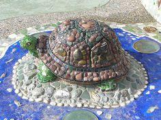 beautiful mosaic turtle