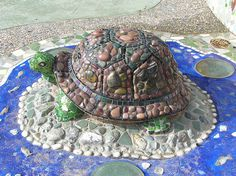 beautiful mosaic turtle