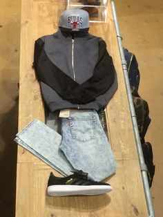 Mitchell and nets cap - rascal hoodie - levis jeans and Adidas special shoes