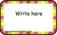 Labels Boarders, Preschool Ideas, Writing, Education, House, Haus, Teaching, Composition, Educational Illustrations
