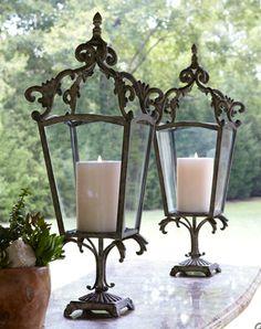 Horchow's Trevi Candleholder = $225 Pottery Barn's Rosetta Lantern = $89 Related