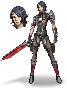 Athena Concept from Borderlands: The Pre-Sequel