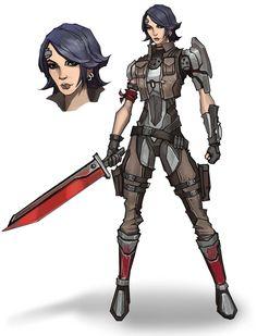 Athena Concept from Borderlands: The Pre-Sequel