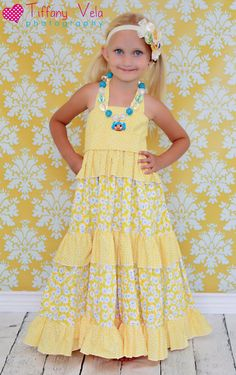 Julia's Twirly Maxi Dress PDF Pattern sizes 6-12 months to 8 girls. $12.00, via Etsy.