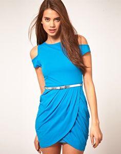 Asos $60.88. I love the draped skirt..