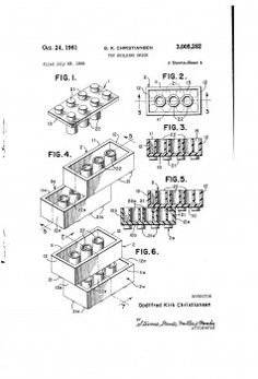 55 years ago they presented the LEGO brick Patent