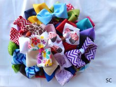 Hair Bow Lot 8 Lot Hair Bows Easter Basket by SanteenCreations, $9.50