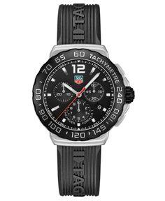 Tag Heuer Men's Swiss Chronograph Formula 1 Black Rubber Strap Watch 42mm CAU1110.FT6024