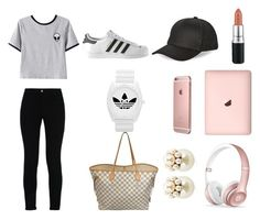 """""""Goals"""" by chat-virtue on Polyvore featuring STELLA McCARTNEY, Chicnova Fashion, adidas, BCBGeneration, Louis Vuitton, MAC Cosmetics, Beats by Dr. Dre and Mawi"""