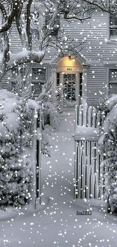 Winter Wonderland home Victorian Winter Szenen, I Love Winter, Winter Magic, Winter Christmas, White Christmas Snow, Merry Christmas, Christmas Time, Winter Pictures, Christmas Pictures