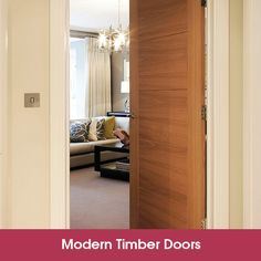 Adding a modern timber door to your property, whether you're a tradesman or a homeowner, can revitalize an interior creating a better living area. Contemporary Internal Doors, Modern Wood Doors, Timber Door, Front Doors, Living Area, Bespoke, Tall Cabinet Storage, Google, House