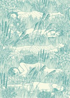 Laurie Hastings, Virgin Suicides / Limited edition silk screen print commissioned by Print Club London for their 2012 Blisters: The Director's Cut exhibition