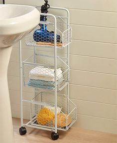 3 Shelf Utility Storage Cart Room Essentials - Storage Cart - Ideas of Storage Cart - Country Farmhouse Slim Storage Carts Storage Cart Ideas of Storage Cart Magnifying Glass Toilet Storage, Laundry Room Storage, Bathroom Organization, Bathroom Storage, Farmhouse Bathroom Organizers, Boho Bathroom, Bathroom Styling, Bathroom Ideas, Relaxing Bathroom