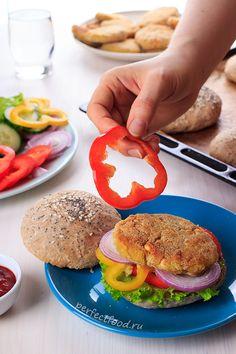 Веганский НЕфастфуд: бургеры с нутовыми котлетами - рецепт с фото   Добрые вегетарианские рецепты с фото и видео