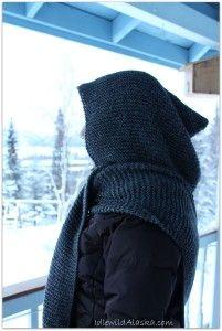Knit Hooded Scarf - IdlewildAlaska Free Pattern!