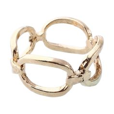 Elegant Infinity Horse Bit Ring Sz 6 Fashion Open Design Gold Hollow Pinky Ring #Unbranded #Statement