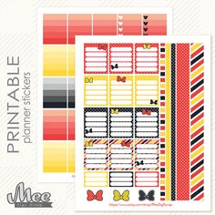 Red Minnie Mouse inspired ADD ON  Planner Stickers by MeeDigiScrap