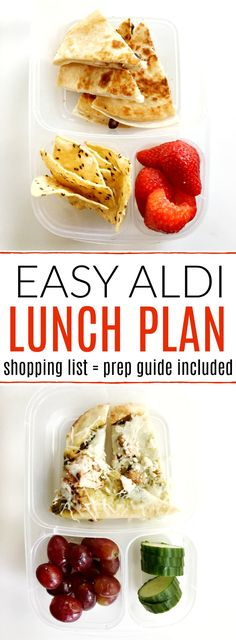 Save money with this FREE Aldi Meal plan. Never worry about lunch again with this budget-friendly lunch plan. Aldi Shopping Guide included!!!